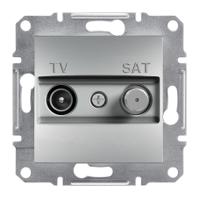 Розетка телевизионная + спутник проходная Schneider Electric Asfora 4 dB Алюминий EPH3400261