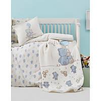 Детский плед в кроватку Karaca Home - Blue Bears 100*120