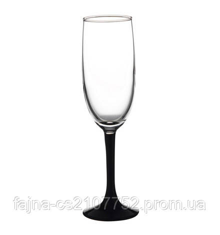 Бокал Імперіал шампанське чорн нож 4 шт 155мл 44819ч