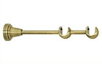 Держатель двойной открытый для карниза 16/16 мм античное золото