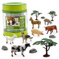 Игровой набор животные Ферма Animal Planet Farm Collection Bucket