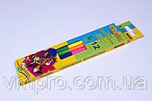 """Олівці кольорові """"MARCO""""-Пегашка,№1011-6CB (6 шт/12 кольорів)"""