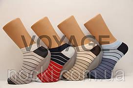 Мужские носки короткие с хлопка классика КЛ 41-45  687 в мелкую полоску