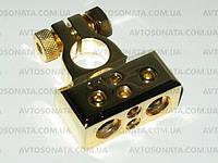 Клемма аккумулятора Sound Bridge GOLD 24К (-) 51N, фото 1