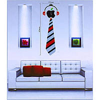 Часы наклейки на стену галстук