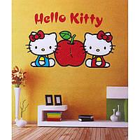 Часы наклейки на стену hello kitty