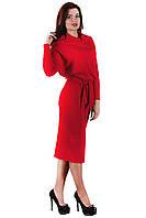 Трикотажное красное платье SO-13138-RED ТМ Alpama 46-48 размеры