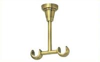 Держатель потолочный двойной открытый для карниза 16/16 мм античное золото