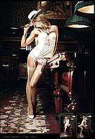 Чутки в сетку с утонченным орнаментом Champagne Filigree Net Stockings