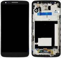 Дисплей (LCD) LG D800 G2/ D801/ D803/ LS980/ VS980 с сенсором черный оригинал + рамка