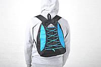 Новинка !!!! Рюкзак спортивный Adidas-Black/Blue / адидас