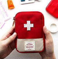 Органайзер аптечка для дома и в путешествия. Красная.
