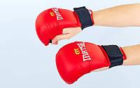 Накладки (перчатки) для каратэ PU Matsa Zel/Ma 0010 (р-р S,M,L,XL,синий,красный,манжет на резинке)