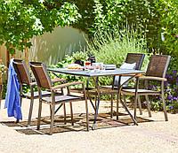 Комплект мебели для сада, кафе и ресторанов из метала (4 стула  и столик  из метала )