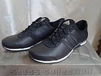 Чёрные мужские кроссовки с антискользящей защитой АВС , натуральная кожа ТМ EXTREM.