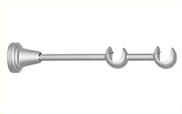 Держатель двойной открытый для карниза 19/19 мм сатин-никель