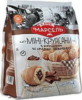 КАФЕ МАРСЕЛЬ Мини-Круассаны с шоколадной начинкой, 180г.