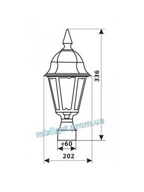 Уличный светильник на столб 100W Delux PALACE Е03, фото 2