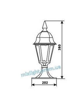 Садово парковый светильник столбик Delux PALACE A04, фото 2