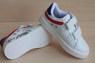 Кроссовки на мальчика белые спортивные слипоны тм JG р.30, фото 2