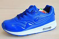 Синие кроссовки Аир Макс на мальчика детская спортивная обувь AIR MAX тм JG р.31,33,34