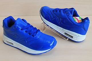 Синие кроссовки Аир Макс на мальчика детская спортивная обувь AIR MAX тм JG р.31,33, фото 3