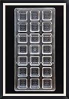 Поликарбонатная форма Квадрат с цветочком для конфет, карамели, шоколада, фото 1