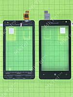 Сенсор Microsoft Lumia 435 с панелью Оригинал Черный