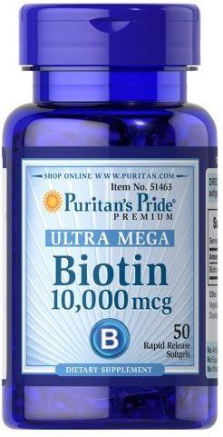 Puritan's Pride Biotin 10000 mcg 50 caps