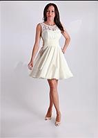 Платье коктейльное Валентино  крем