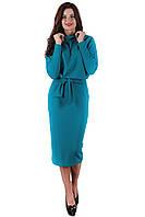 Трикотажное бирюзовое платье SO-13138-GRN ТМ Alpama 46-48 размеры
