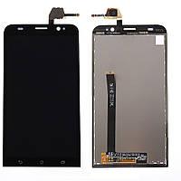 Дисплейный модуль (экран + сенсор) Asus Zenfone 2 (ZE 551 ML) чёрный (оригинал Китай)