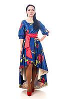 Красивое синее платье Sensilin турция, фото 1