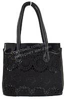 Удобная оригинальная стильная прочная женская сумка с оригинальной лицевой вставкой SOFIYA art. SF-5023 черная