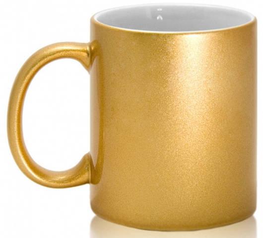 Кружка керамическая для сублимации, цвет - золотая