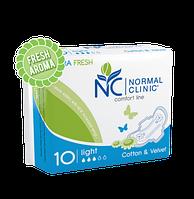 """Прокладки для критических дней """"NORMAL clinic Comfort Ultra"""" Cotton & Velvet Fresh, 3, 10шт, 240мм"""
