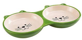 Ferplast IZAR Двойная керамичская миска для кошек