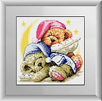 Вышивка камнями Dream Art Спящие мишки (полная зашивка, квадратные камни) (DA-30002) 25 х 25 см