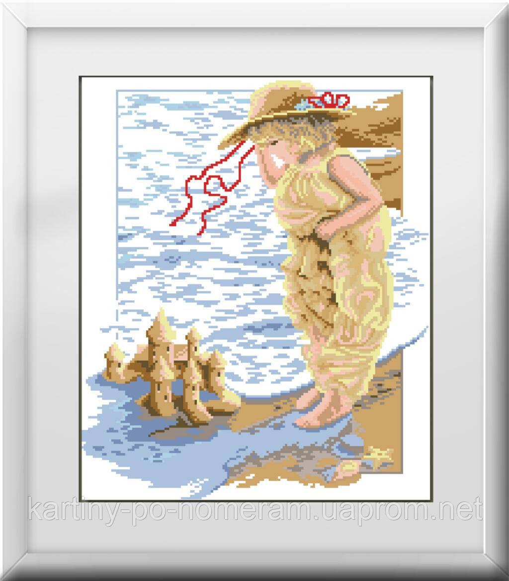 Вышивка камнями Dream Art Замок из песка (полная зашивка, квадратные камни) (DA-30009) 46 х 38 см