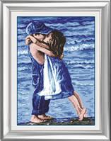 Вышивка камнями Dream Art Дети на пляже (полная зашивка, квадратные камни) (DA-30013) 35 х 50 см