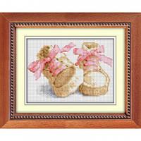 Вышивка камнями Dream Art Первые шаги - розовый (полная зашивка, квадратные камни) (DA-30014) 17 х 23 см
