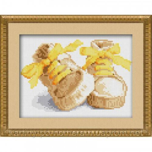 Вышивка камнями Dream Art Первые шаги - желтый (полная зашивка, квадратные камни) (DA-30018) 17 х 23 см