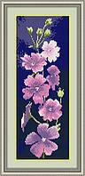 Вышивка камнями Dream Art Герань(панель) (полная зашивка, квадратные камни) (DA-30037) 15 х 42 см