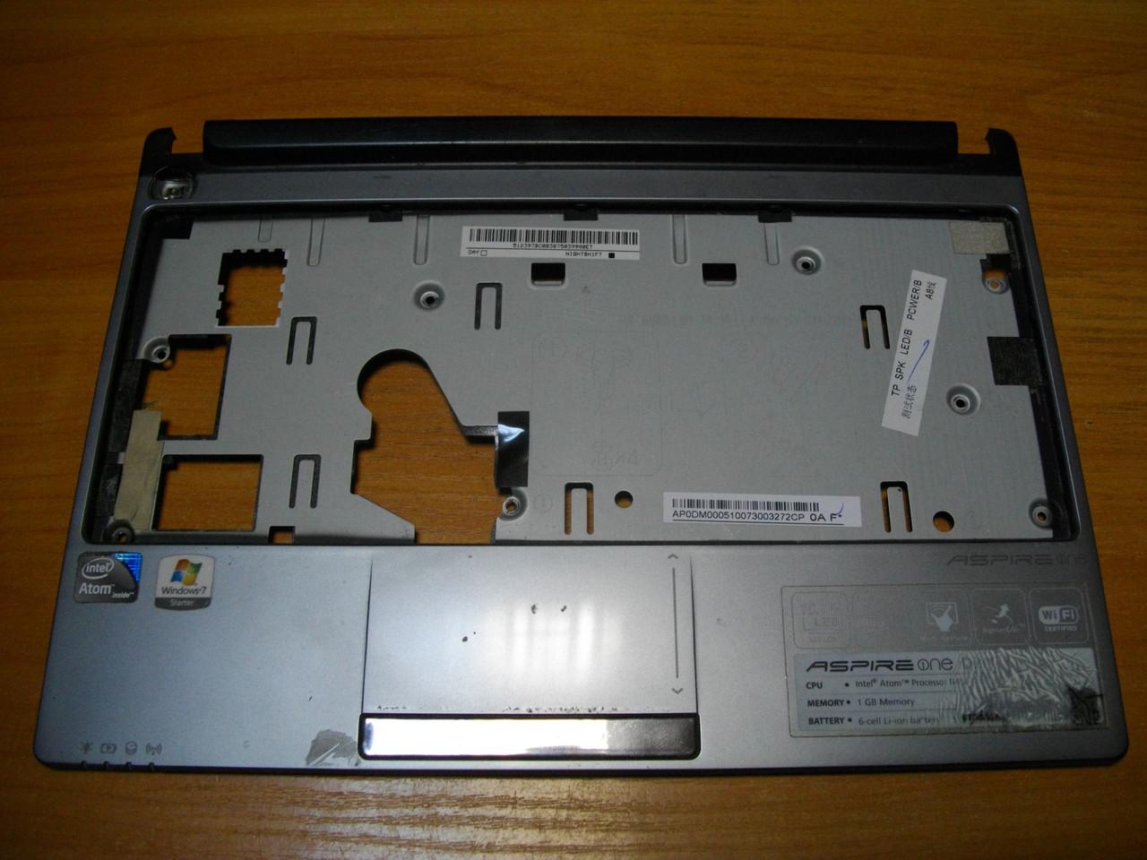 Корпус верхняя часть с тачпадом Acer Aspire one NAV70. Оригинальные.