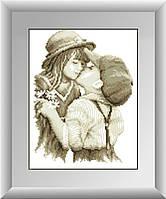 Вышивка камнями Dream Art Первый поцелуй (полная зашивка, квадратные камни) (DA-30041) 27 х 35 см