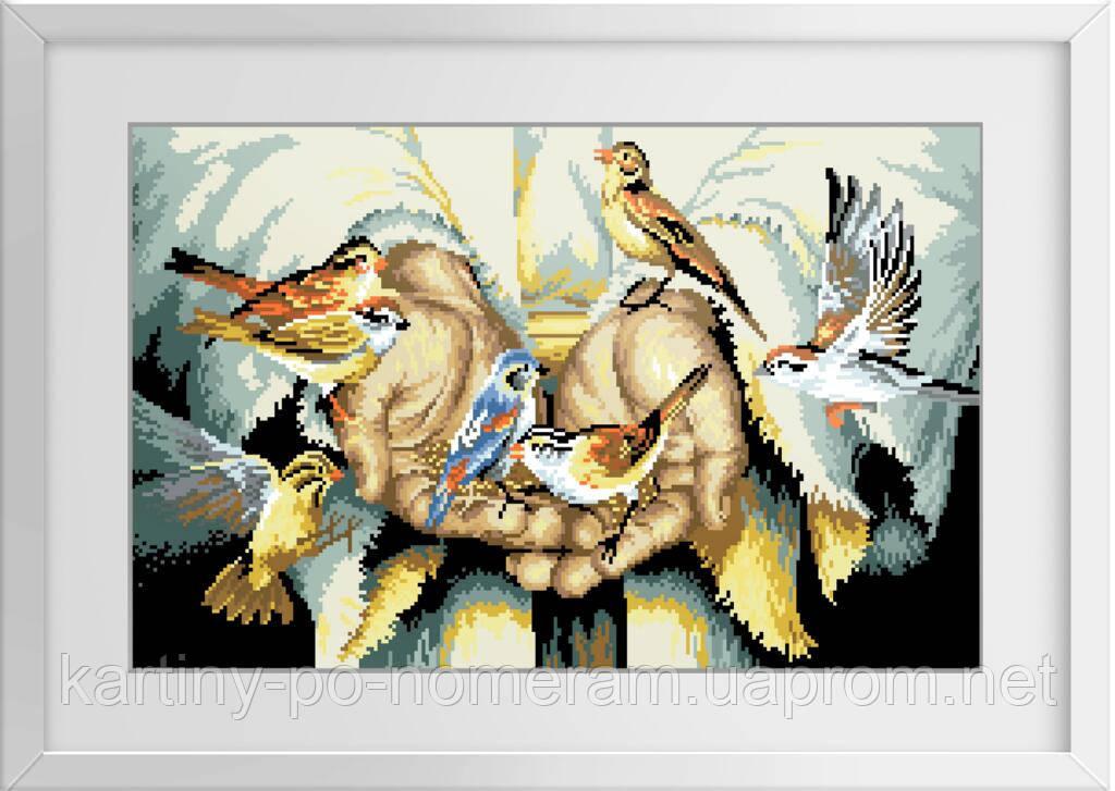 Вышивка камнями Dream Art В его руках (полная зашивка, квадратные камни) (DA-30116) 58 х 36 см