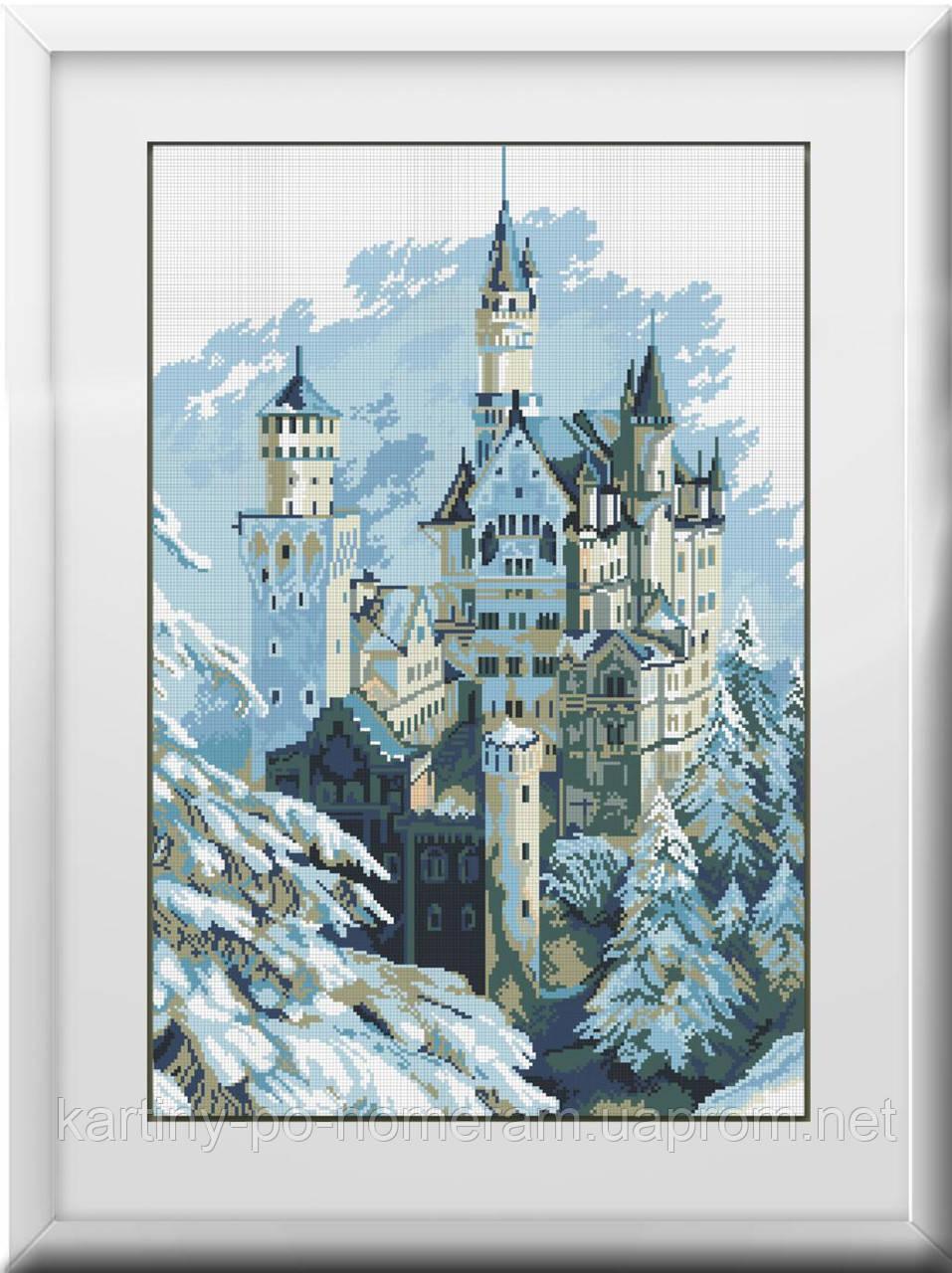 Вышивка камнями Dream Art Зимний замок (полная зашивка, квадратные камни) (DA-30129) 49 х 72 см