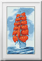 Вышивка камнями Dream Art Корабль любви (полная зашивка, квадратные камни) (DA-30158) 37 х 63 см