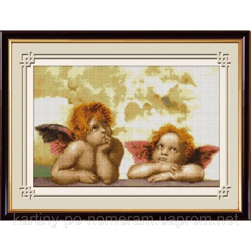 Вышивка камнями Dream Art Два ангела (полная зашивка, квадратные камни) (DA-30162) 30 х 55 см