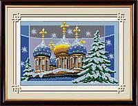 Вышивка камнями Dream Art Рождественские купола (полная зашивка, квадратные камни) (DA-30196) 34 х 51 см